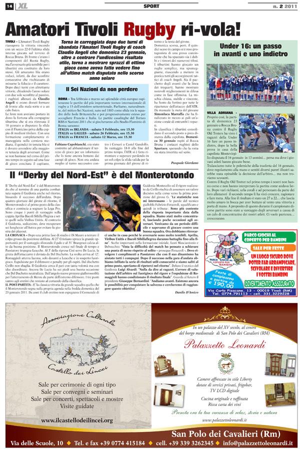 Articolo XL Tivoli Rugby
