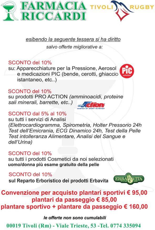 Convenzione con la Farmacia Riccardi