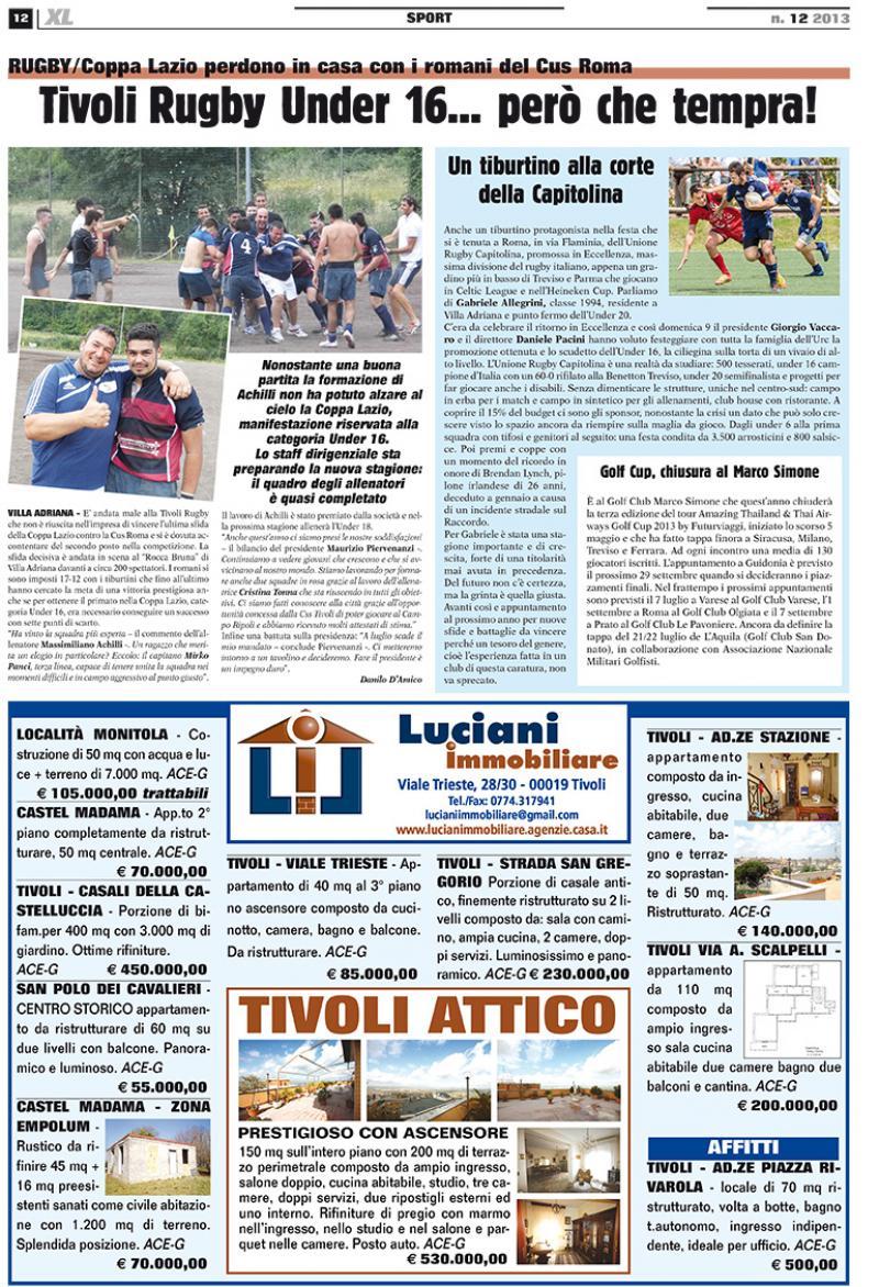 la pagina del giornale XL